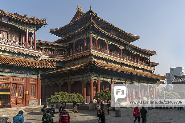 Lama Temple or Yonghe Temple  Beijing  China  Asia