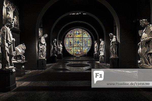 Innenaufnahme Dommuseum  Museo dell'Opera  Siena  Toskana  Italien  Europa