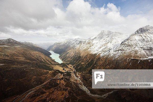 Luftaufnahme  Speichersee Kaunertal  Gepatschspeicher  Tirol  Österreich  Europa