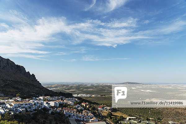 'View from the top of Luque  a traditional town surrounded by olive trees; Luque  Cordoba  Andalucia  Spain'