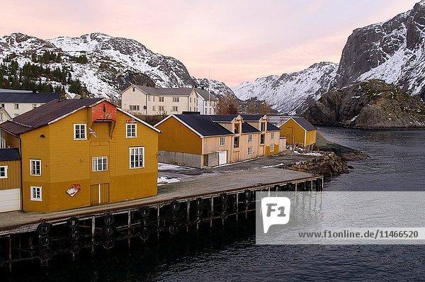 Reine  Nusfjord  Lofoten Islands  Nordland County  Norway  Europe