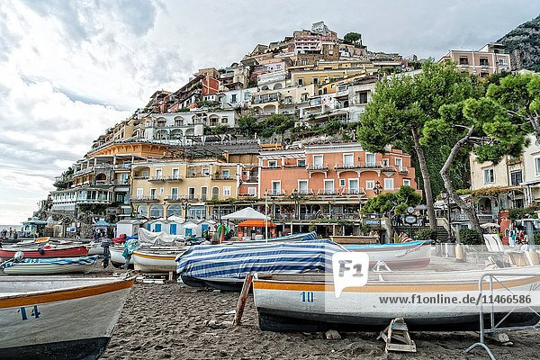 Beach at Positano  Amalfi Coast  Italy  After the Season.