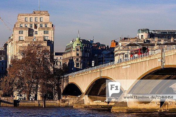 Waterloo Bridge  London  England.