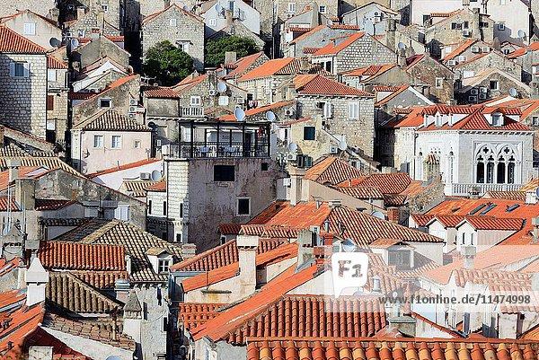 View of Old Town of Dubrovnik  Croatia