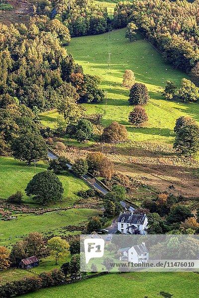 Lake District scenery near to Keswick  UK.