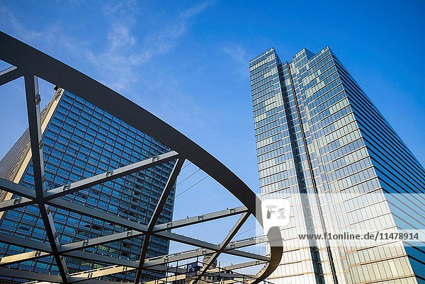 Belgium  Brussels  Place Rogier  central business district  modern office tower.
