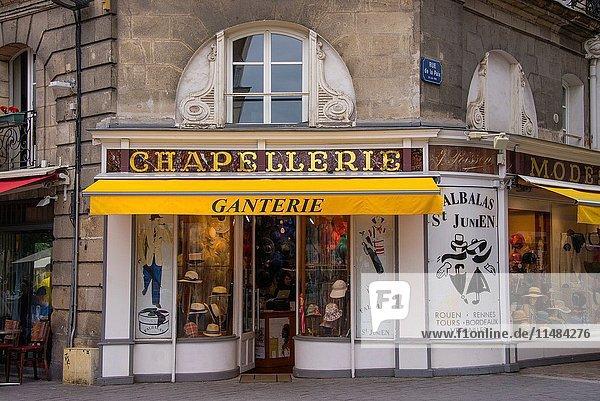 Milliner's and gloves shop  Nantes  Loire Atlantique  France