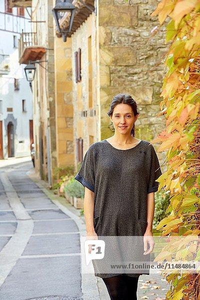 Woman  Autumn  Aya  Gipuzkoa  Basque Country  Spain