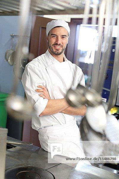 Chef  Cook in cooking school  Cuisine School  Donostia  San Sebastian  Gipuzkoa  Basque Country  Spain  Europe