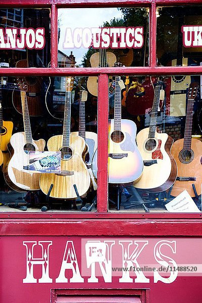 Denmark Street. Since the 1950s it has been associated with British popular music  first via publishers and later by recording studios and music shops. London  England.