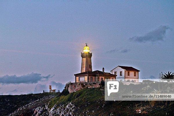 Lighthouse at night Avilés  Asturias  Spain