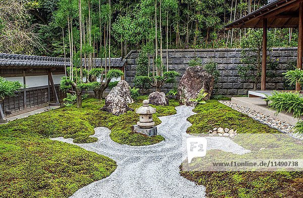 Japan  Kamakura City  Kannon Hase-dera Temple garden.
