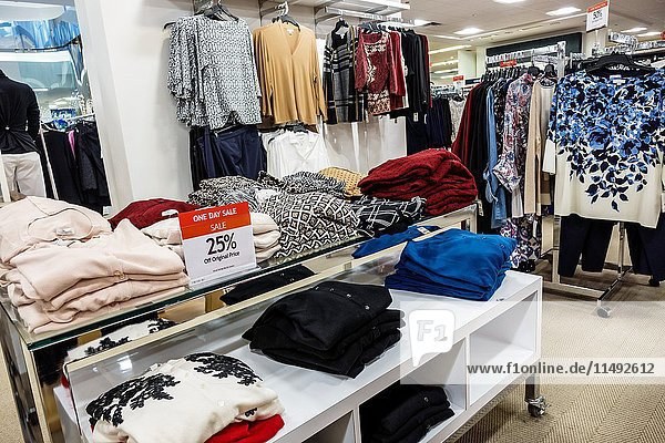 Florida  Miami  Aventura Mall  Macy's  department store  interior  display  sale  women's clothing  25%