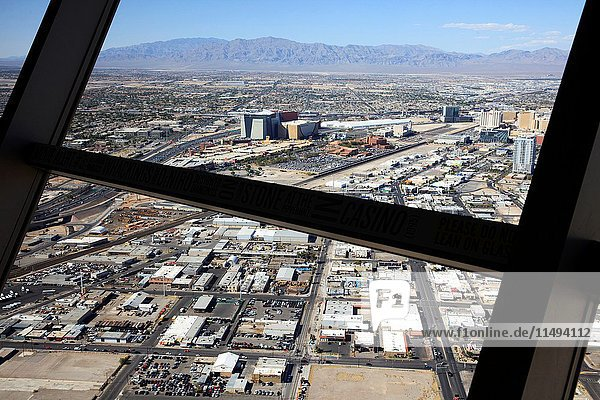 View from Stratosphere Hotel  Las Vegas  Nevada  USA.