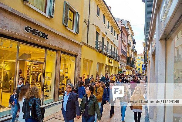 Via Mazzini  Verona  Veneto  Italy.