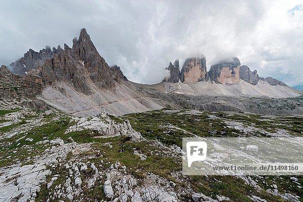 Europe  Italy  Dolomites  Belluno  Bolzano. Tre Cime di Lavaredo.