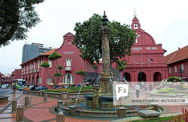 Melaka Malaysia Hertiage City Fountain at Main Square downtown artists area