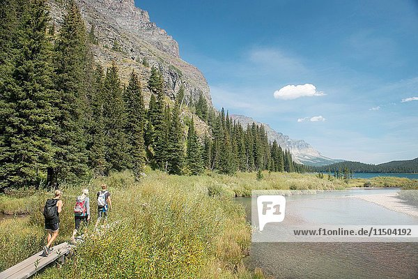 Traveling throughout Montana National Glacier Park.