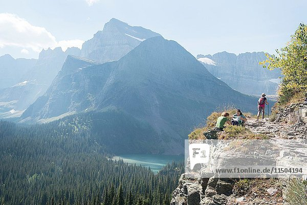 Traveling throughout Montana National Glacier Park..