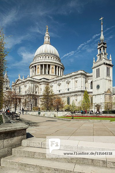 St Paul's cathedral in the City of London  England.