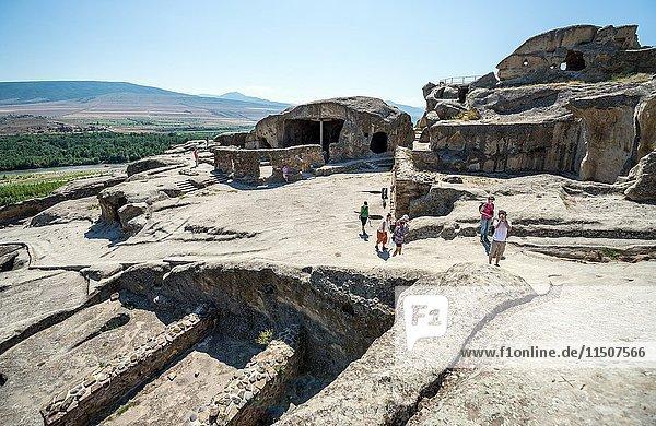 Uplistsikhe (the lord's fortress) ancient rock-hewn town in Georgia  Shida Kartli region.