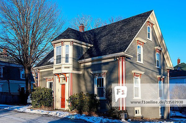 Example of home architecture in Lunenburg,  Nova Scotia,  Canada.