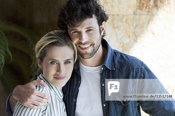 Lächelndes Paar  Portrait