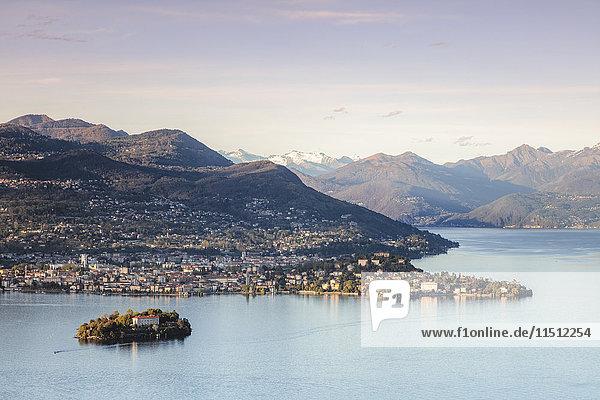 Borromean islands in the gulf of Pallanza  Lake Maggiore  Piedmont  Italy