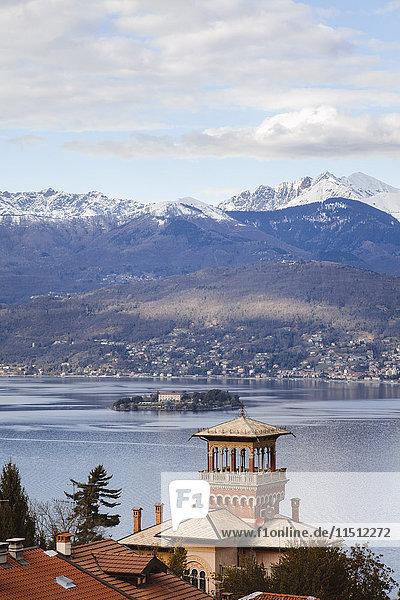 Borromean islands in the gulf of Pallanza  Lake Maggiore  Lombardy  Italy
