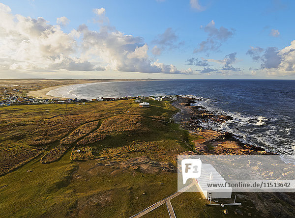Elevated view of the Cabo Polonio  Rocha Department  Uruguay  South America