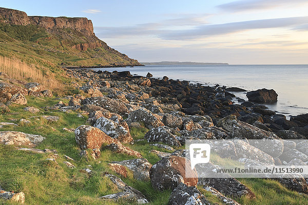 Fair Head  Murlough Bay  County Antrim  Ulster  Northern Ireland  United Kingdom  Europe