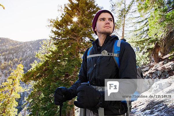 Wanderer auf dem Cucamonga Peak  Mount Baldy  Kalifornien  USA