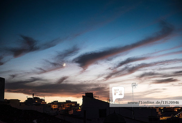 Clouds at sunset  Menorca  Spain