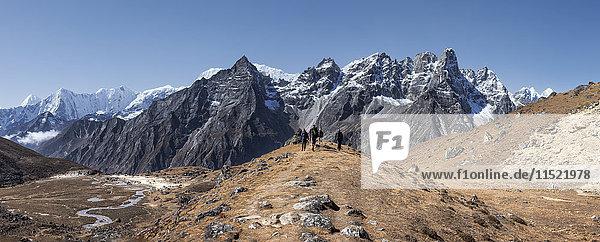Nepal  Himalaya  Khumbu  Everest-Region  Wanderer