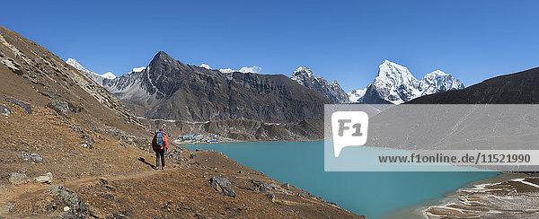 Nepal  Himalaya  Khumbu  Everest-Region  Renjo La  Gokyo-See