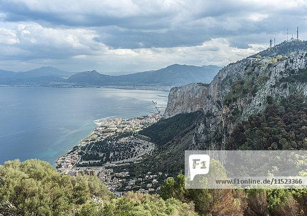 Italien  Sizilien  Blick vom Monte Pellegrino nach Palermo