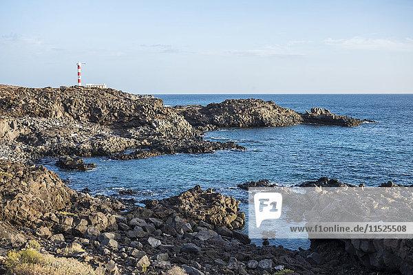 Spanien  Teneriffa  Blick auf den Leuchtturm Punta Rasca