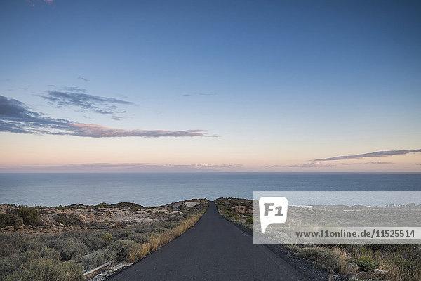 Spain  Tenerife  empty road at dusk