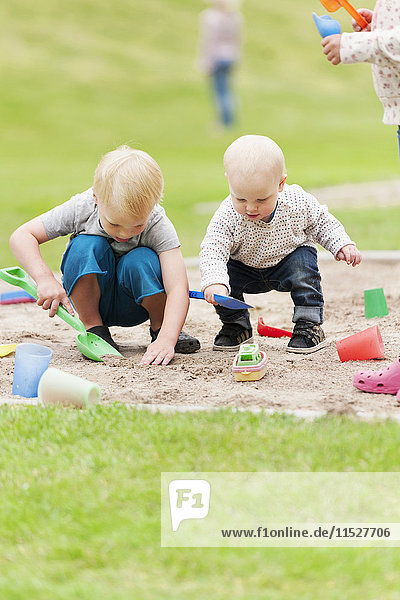 Children playing in sandpit