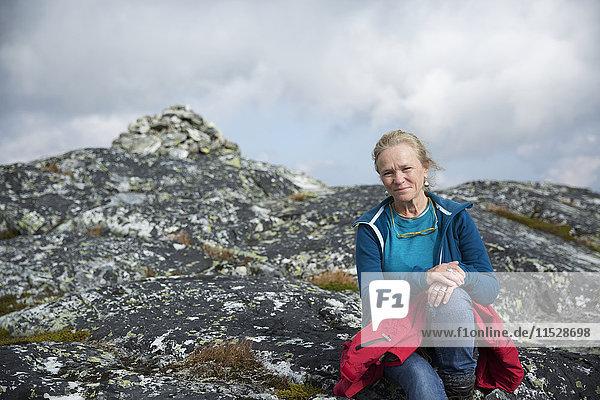 Portrait of smiling hiker