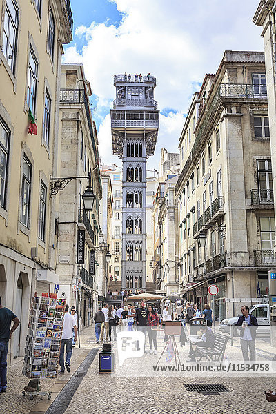 Portugal  Lisbon  view to Santa Justa Lift