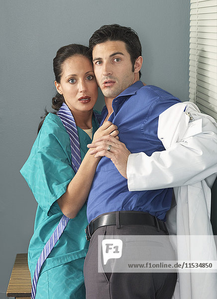 Doctor and Nurse Caught Kissing