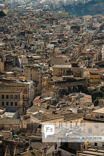 Italien  Sizilien  Provinz Ragusa  Val di Noto  Stadtbild von Ragusa