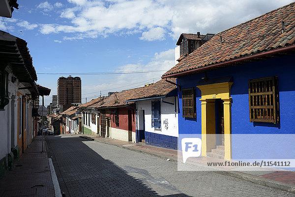 Kolumbien  Bogota  La Candelaria  Altstadt  Häuserzeile
