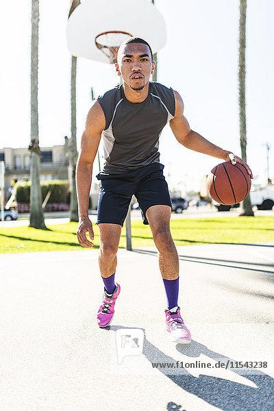 USA  Los Angeles  Basketballtraining