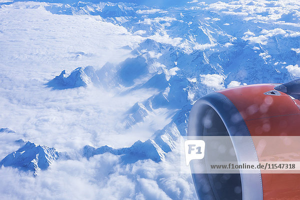 Italien  Blick aus dem Flugzeugfenster Italien, Blick aus dem Flugzeugfenster
