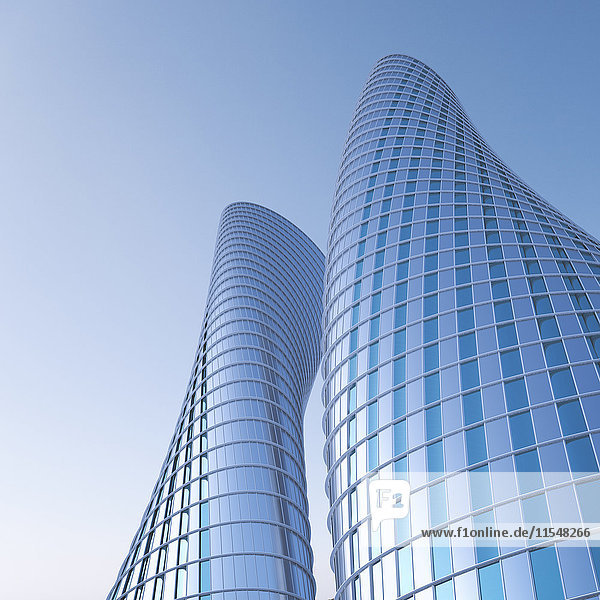 3D-Rendering  moderne Hochhäuser