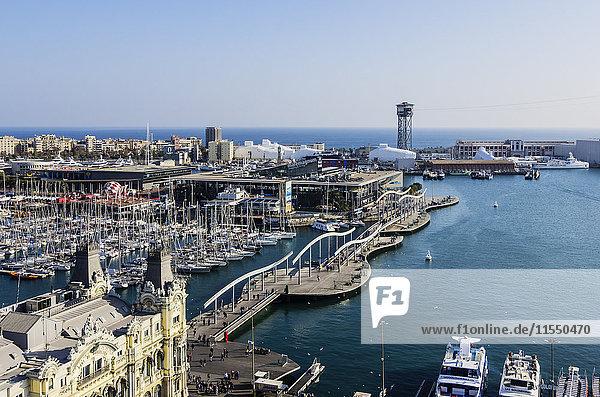 Spanien  Barcelona  Marina von der Kolumbus-Säule aus gesehen