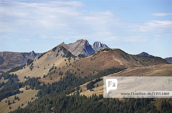Austria  Pongau Grossarl Valley  View of Ellmau valley  Radstaetter Tauern