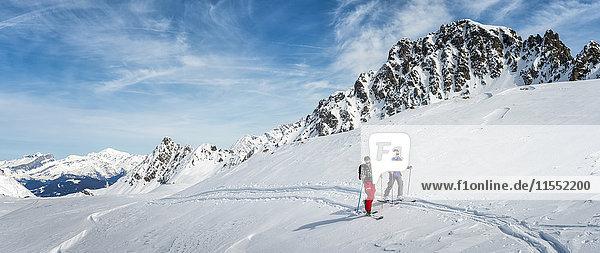 Frankreich  Les Contamines  Skibergsteigen
